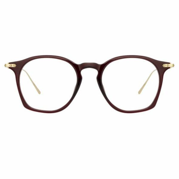 Oprawy okularowe Mila acetat tytan burgund czerwone model