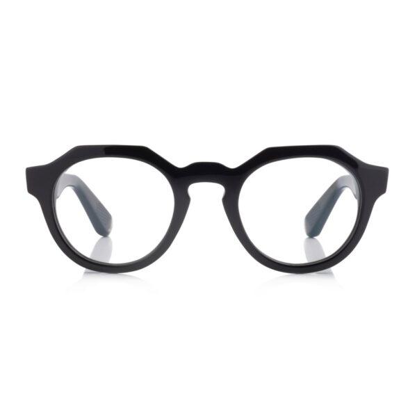 Oprawy okularowe Cruising zielone transparentne okrągłe acetat tworzywo model