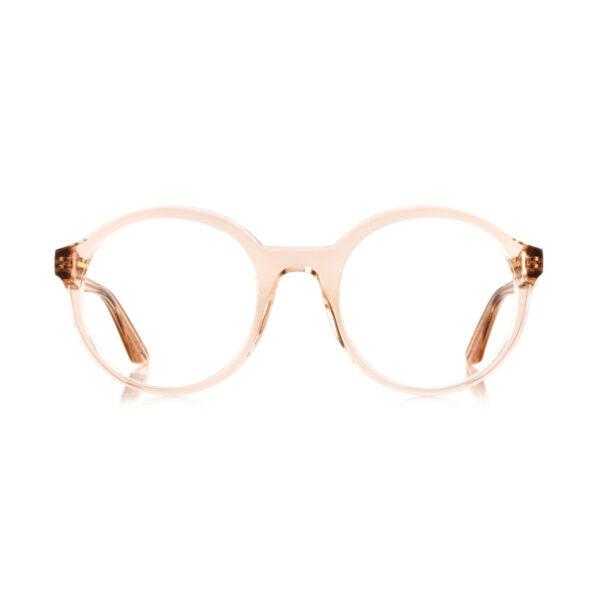 Oprawy okularowe Fluent okrągłe transparentne acetat tworzywo model