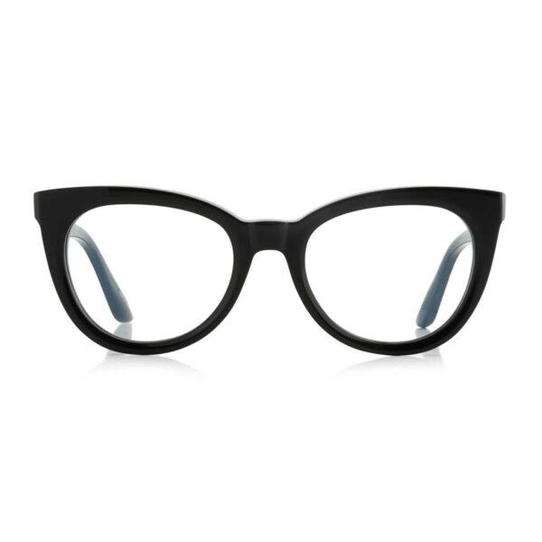 Oprawy okularowe Jeanne czarne półokrągłe acetat tworzywo model