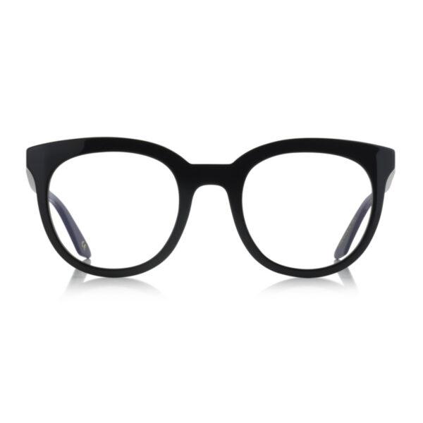 Oprawy okularowe Limone czarne półokrągłe acetat tworzywo model