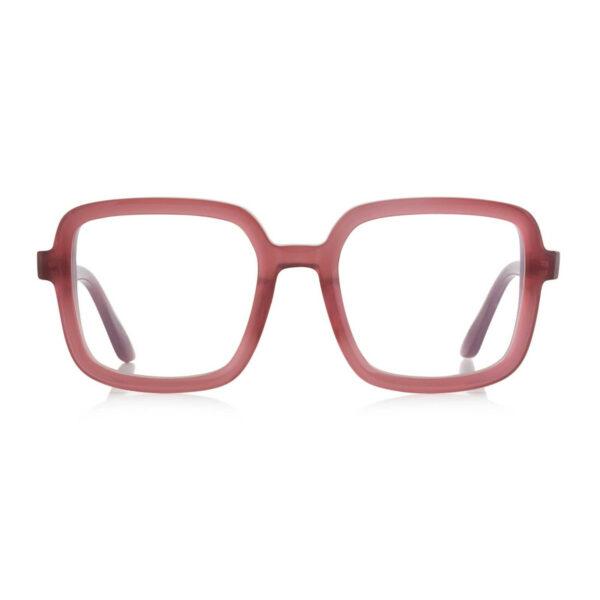 Oprawy okularowe Marlene różowe transparentne prostokątne acetat tworzywo model