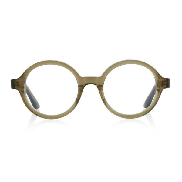 Oprawy okularowe Oskar zielone okrągłe acetat tworzywo model