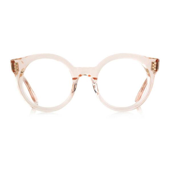 Oprawy okularowe Rita transparentne okrągłe acetat tworzywo model